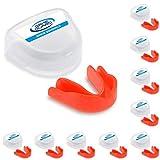 10x Game Guard Paradenti/Paradenti Denti Protezione/Gum Shield–Rosso–, approvato CE, ideale per la scuola sport, Red, Bambino