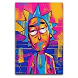 Trippy Rick And Morty - Póster decorativo para pared (40 x 60 cm)