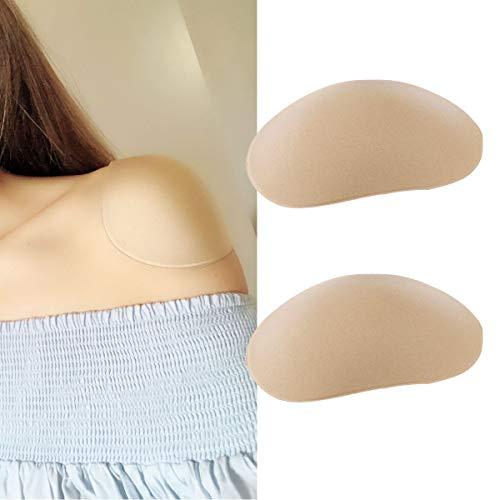 Freebily Soft Silicone Shoulder Push-up Pads Adhesive Shoulder Enhancer Shoulder Pads Nude One Size