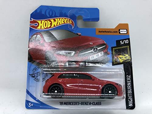 2020 Hot Wheels '19 Mercedes-Benz A-Class Red 5/10 Nightburnerz 194/250 (Short Card)