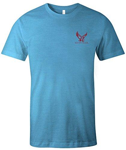 Image One NCAA Boston College Eagles Erwachsenen-T-Shirt, Azteken-Muster, kurzärmlig, Tribling, Größe M, Aqua