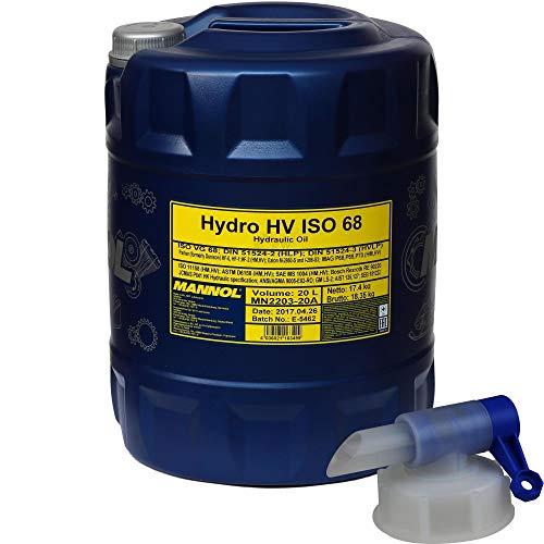 20 Liter MANNOL Hydro HV ISO 68 HVLP 68 Hydrauliköl Oil Öl inkl. Auslaufhahn