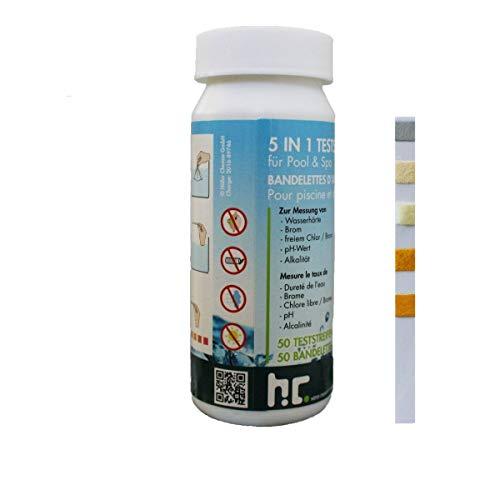 Höfer Chemie 5 in1 Pool Teststreifen (50 Stück) - für ihren Pool