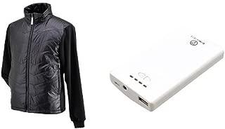 ヘンリービギンズ(HenlyBegins) 電熱ベスト テラヒート ブラック S モバイルバッテリー1個セット