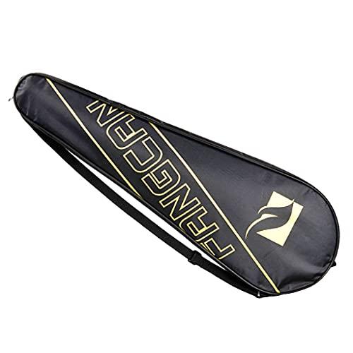 Tennis Badminton Single Racket Racquet Cover Bag Oxford Storage Case Holder - Yellow