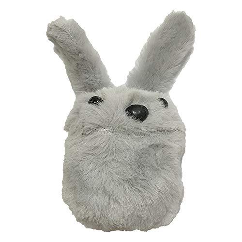 shihao159 koptelefoon draadloze stofdichte winter schattig konijn pluche hoesje cover beschermende huid koptelefoon zak Grijs