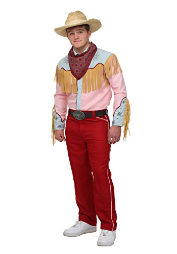 Adult Back to The Future Part III Marty Cowboy Outfit, S to XL