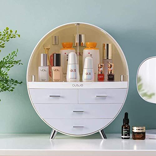 PAKASEPT Staubdichte Schublade Makeup Organizer, Große Kapazität Make-up Kosmetikbox mit 4 Schubladen, Wasserdicht Kosmetik Aufbewahrungs Box für Dresser Bad Schlafzimmerr, 40 * 34 * 17.5cm