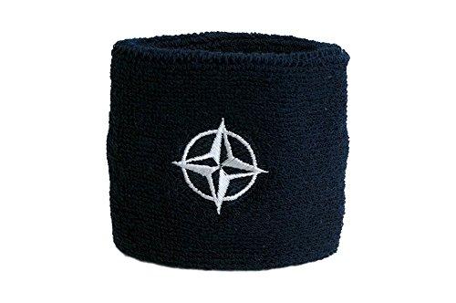 Sudor banda diseño FahnenMax–Bandera de la OTAN + Gratis Pegatinas, Flaggenfritze–Bandera, 1 unidad