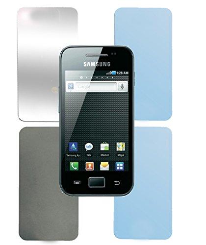 Cadorabo Bildschirmschutzfolien für Samsung Galaxy ACE 1 - Schutzfolien in HIGH Clear – 4 Folien (1x Privacy - 1x Spiegel - 1x Matt - 1x Anti-Fingerabdruck)