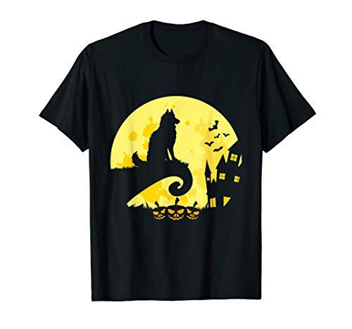Best Siberian Husky Dog Moon Halloween Matching Costume T-Shirt