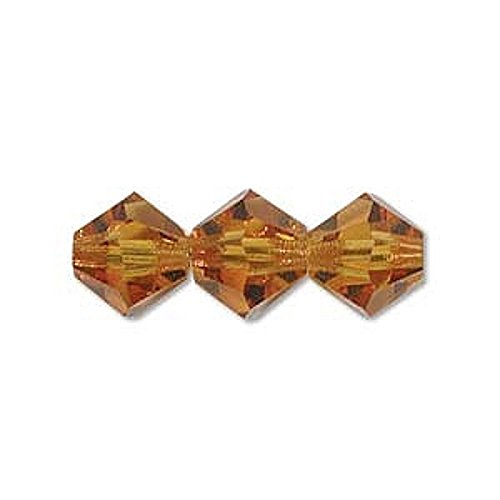 Topaz Preciosa Bicone Checa Perlas de Vidrio 4mm 31pieza(s)
