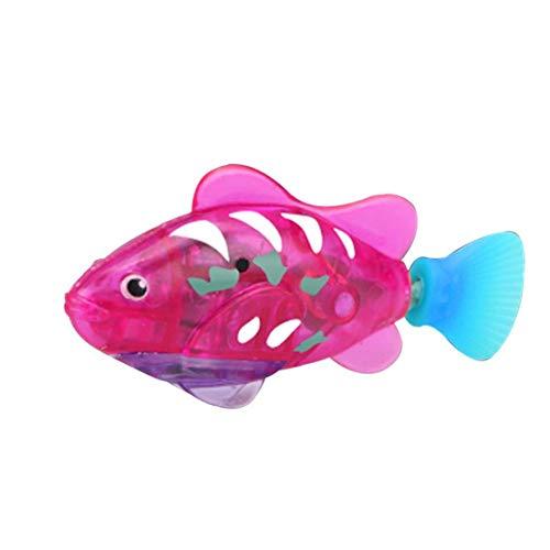Odoukey Natación pez Robot, Activado y Agua Mágico niños de Juguete electrónico de Regalo Infantil, Mini Realista robótico de Pescado, Pescado batería acuática accionada