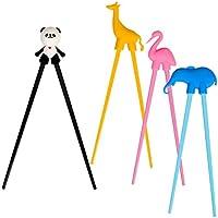 LANMOK 4 par de los Palillos del Flamenco Kung fu de Estilo de Panda para Comer, Desayuno, merienda, tallarines, Regalo etc