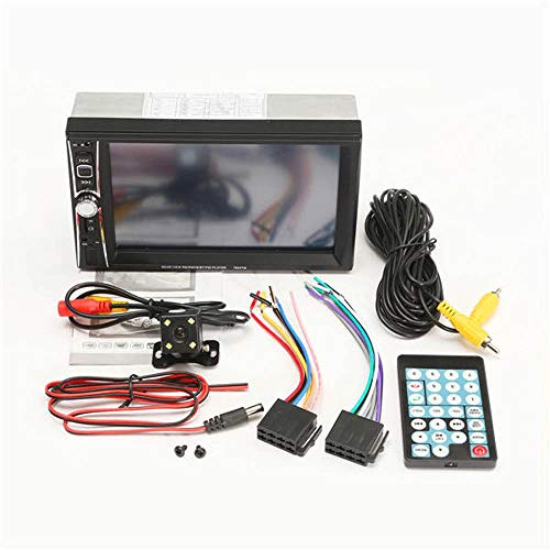 Receptor de Medios Digitales 7 Pulgadas 2 DIN estéreo de Radio Auto del Coche MP5 de la Pantalla táctil del Bluetooth de la cámara de visión Trasera AUX con USB FM