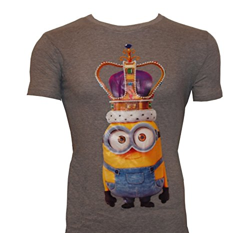 MINIONS Camiseta King Bob con corona gris S