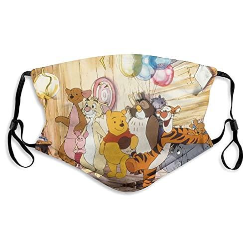 Winnie The Pooh Classic Tigger - Mascarillas reutilizables para la cara de algodón antipolvo, protección bucal con bucles ajustables para las orejas para adultos y hombres