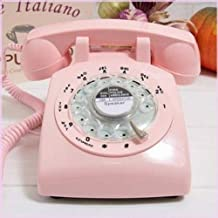 Glodeals 1960's Style Pink Retro Old Fashioned Rotary Dial Telephone photo
