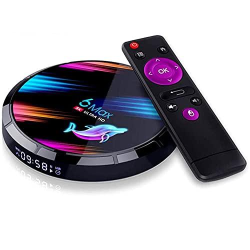 8K Android 9.0 TV Caja de TV Smart Media Box 4GB RAM 32GB ROM ROM Quad Core Bluetooth 4.0 WiFi 2.4G & 5G Ethernet 1USB 3.0 y 1USB 2.0 Set Top Box @ 24 Max Resolution Salida Internet,4gb+128gb
