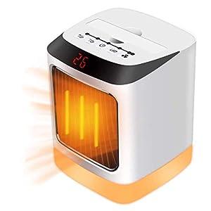 Calefactor Cerámico,Fan Heater,Portátil Estufa Eléctrico Calefactor Cerámicos Calefacción de Termoventilador con Digital Termostato Ajustable para Oficina/Casa/Garaje