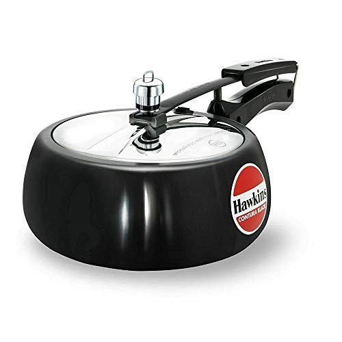 Hawkins CB35 Hard Anodised Pressure Cooker, 3.5-Liter, Contura Black by Hawkins