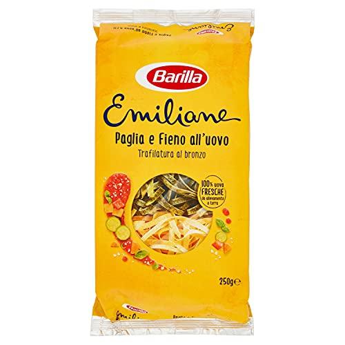 Barilla Pasta all' Uovo Le Emiliane Paglia e Fieno, 250g