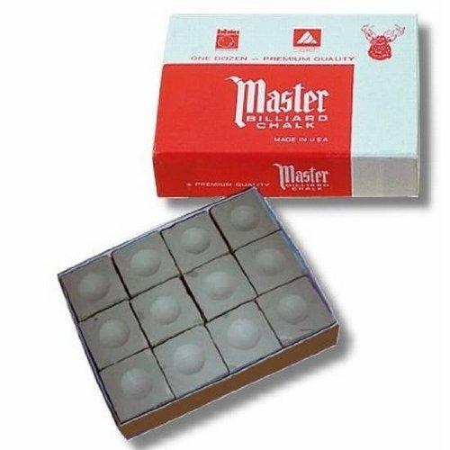 Billard Kreide Master grau, Dtzd. (12 Stück Box)
