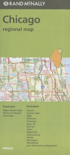 Rand McNally Folded Map: Chicago Regional Map