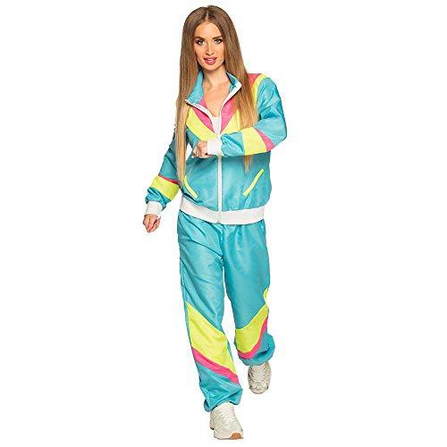 Boland 88536 - Kostüm Trainingsanzug 80er Jahre mit Taschen, Jacke und Hose, Campinganzug, Jogginganzug, Junggesellenabschied, Retro Style, Sportler, Gruppenkostüm, Motto Party, Karneval