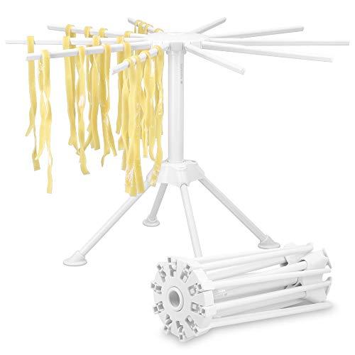 Navaris Zusammenklappbarer Nudeltrockner – zusammenklappbarer hoher Spaghetti-Nudeltrockner mit 10 Armen für hausgemachte Nudeln und Pasta
