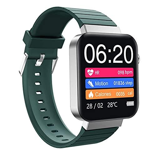 ZHBH Monitor de Actividad física con Pantalla a Color, Pulsera Inteligente IP67, Resistente al Agua, Monitor de frecuencia cardíaca, Monitor de Actividad con podómetro, notificación por SMS para