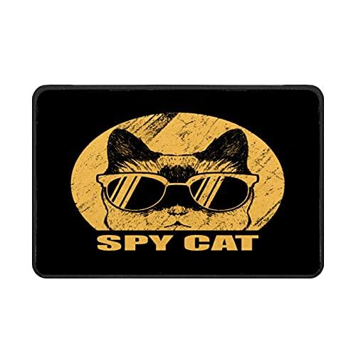 Felpudo de Spy Cat para gafas, fácil de limpiar, antideslizante, para entrada, patio, puerta, garaje, cocina, baño, lavandería, todo tipo de clima, interior/exterior