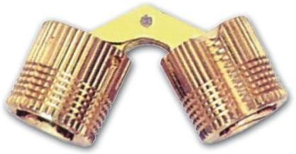 Scharnier voor intrekbare meubels van messing (maat 14 mm)