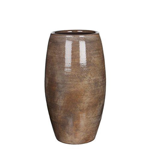 Mica decoratieve vaas, lijst, donkerbruin, 30 x 30 x 50 cm, 1002886