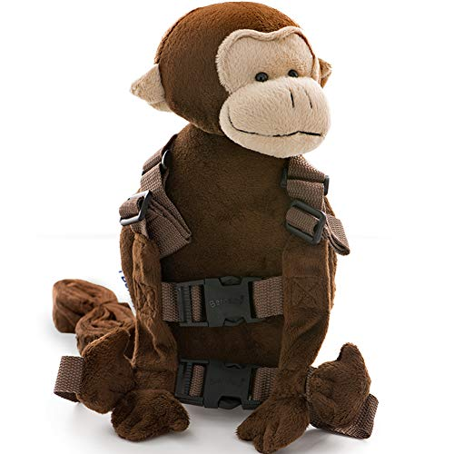 Berhapy 2 in 1 Orangutan Toddler Backpack Harness with Safety Leash for Children's Walking