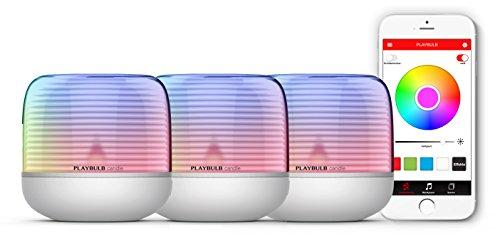 MiPow Playbulb Candle 2 - LED-Teelicht mit App-Steuerung (Bluetooth), kabellos durch eingebauten Akku, über 16 Millionen Farben und Effekte (3er Set)