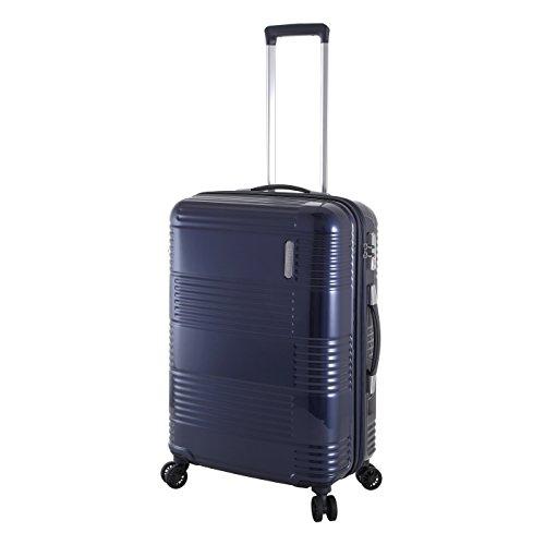 Samsonite NCS Maven - Trolley da viaggio in policarbonato, misura media, 66 cm, colore: Blu