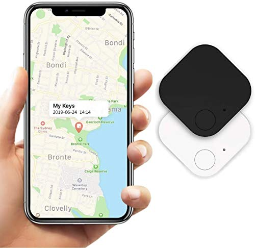 Schlüsselfinder Wireless Anti-Lost Tracker, Bluetooth Smart GPS Tracker Telefonschlüssel Alarm Reminder für Katzen, Hunde, Schlüssel, Gepäck, Brieftasche, Handy, Kind mit iOS und Android APP, 2 Stück
