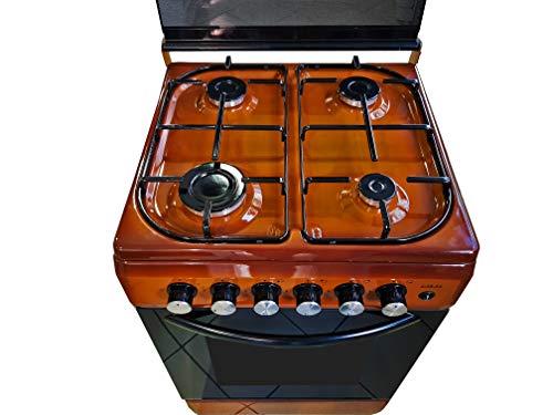 LAREL Cucina con Forno metano o gpl 4 fuochi Vetro valvolati 50x50 Grill Elettrico