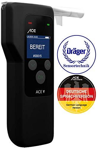 ACE Y Alkoholtester - Polizeigenauer Promilletester mit Dräger-Polizei-Sensor