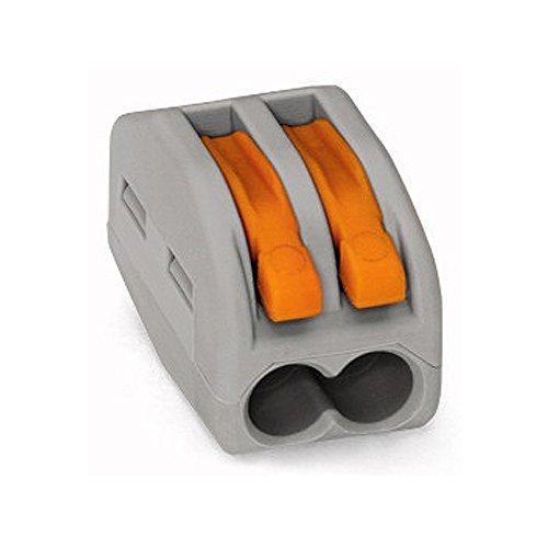 25x Wago 222-412 CLASSIC Verbindungsklemme - mit Betätigungshebel - 2-fach - Hebelklemme - Dosenklemme
