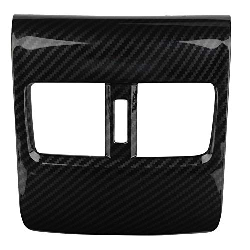 Akozon Armrest Box Air Outlet Cover Car Carbon Fiber Style Rear Seat Armrest Box Air Outlet Trim for Honda Accord 2018