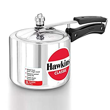 HAWKINClassic CL3T 3-Liter New Improved Aluminum Pressure Cooker Small Silver
