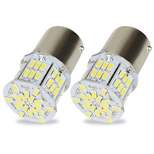 Safego 2x 1156 BA15S Bombillas LED 54 SMD 3014 Luz de Estacionamiento Luz Exterior Coches Motos 12V Blanco 6000K