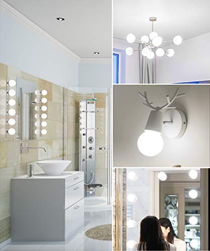 SHINESTAR 8-Pack Bright LED Globe Light Bulbs for Bathroom, 60 Watt Equivalent, Daylight 5000K, E26 Base, Vanity Light Bulbs, Non-dimmable