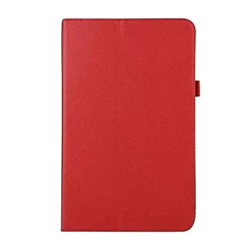 QiuKui Tab Cover For Samsung Galaxy Tab A 10.5 T590 T595 SM-T590 2018, Leather Folding Stand Flip Smart Cover for Galaxy TabA 10.5 inch+film (Color : Rose red)
