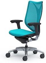 オカムラ サブリナ デスクチェア オフィスチェア スマートオペレーション ハイバック ブラックフレーム ブルーグリーン C883BR-FSZ6