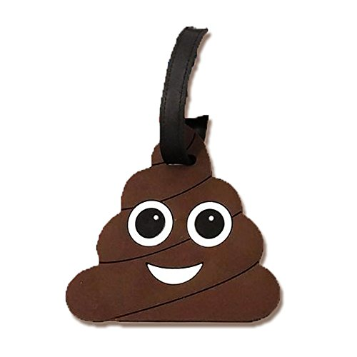 Poop Emoji elegante PVC veliz equipaje equipaje viaje etiqueta de identificación de equipaje, Marrón,…