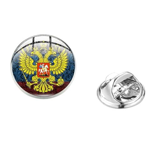 Pin de solapa soviético de águila frontera tropas de la Federación de Rusia Logo Cabujón de vidrio Insignias broche
