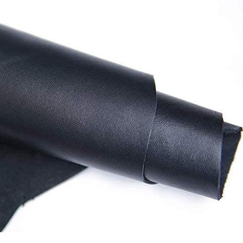 Cuero de vacuno precortado cuadrado de 2 mm de grosor, para trabajos de bricolaje, piel de vaca de grano completo (negro, 30,48 x 30,48 cm)
